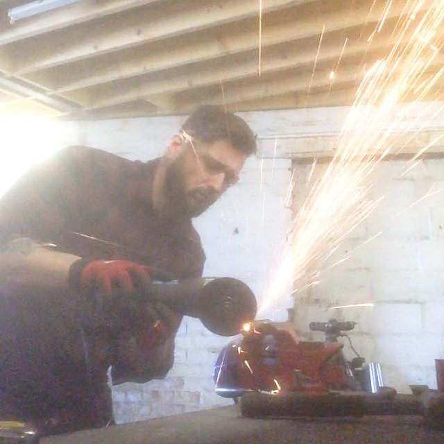 JM Customs - James working in garage