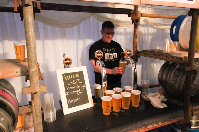 BEER FEST - Pints being served up