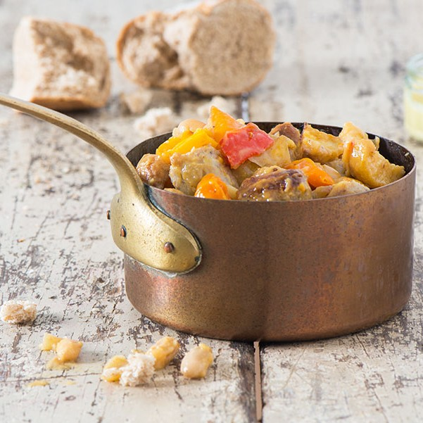 This hearty seasonal dish of spring sausage, peppers and beans it a lovely warming, hearty meal for all the family. It's healthy and easy to make.