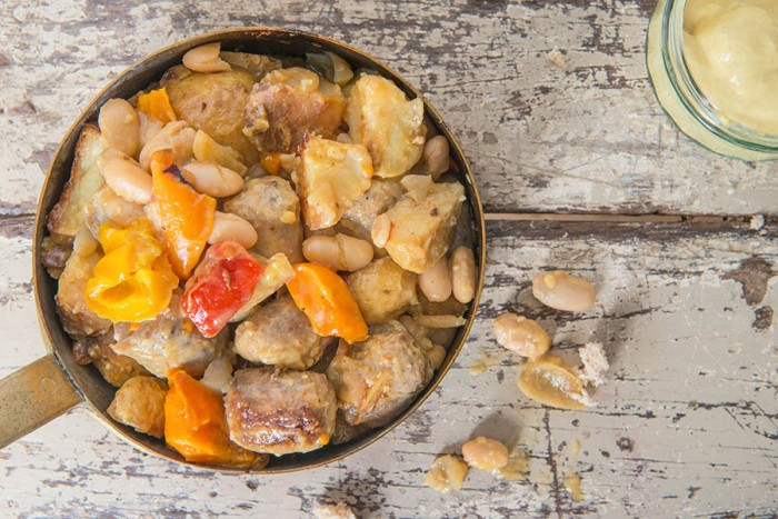 SAUSAGE CASSEROLE - Close up