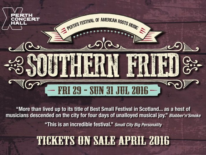 Southern Fried 2016 takes place from Friday 29th - Sun 31st July.