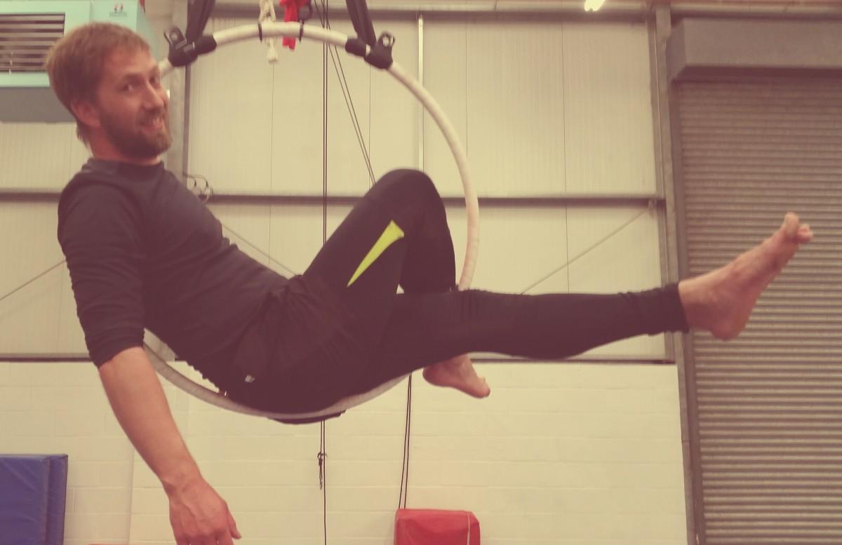Adventure Circus hoop lying back