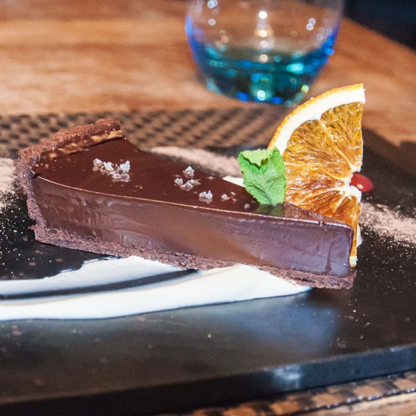 The Dark Chocolate and sea salt tart from The East Haugh House Hotel in Pitlochry is absolutely delicious.