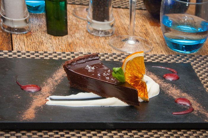 CHOC TART - Directly on plate