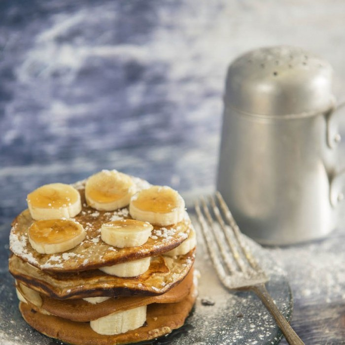 These Buttermilk Peanut Pancakes are delicious and super easy to make.