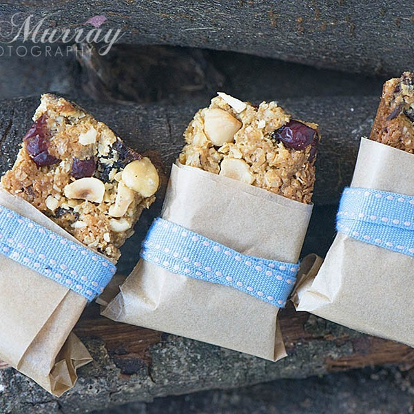 These Granola Bars are easy to make at home and perfect for breakfast on the go or for popping into school lunch boxes. Gill wrapped hers up and had them as a pocket snack on one of her family walks this week; They even took along a spare one for Teddy their dog�I think the photo says it all!