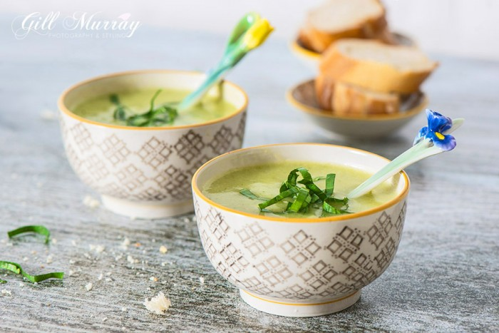 Lovage and potato soup is healthy, filling and quick and easy to make.