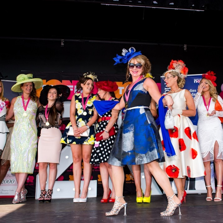 The ladies showed off their fabulous outfits on the stage at Ladies Day 2016!