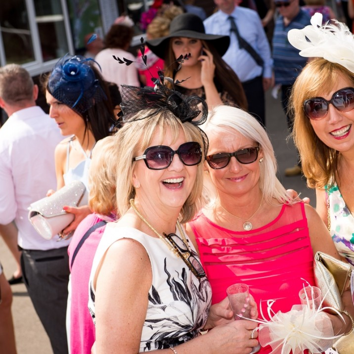 Sunglasses were a must on the glorious day at Ladies Day.  The sun was shining and the drinks were flowing!