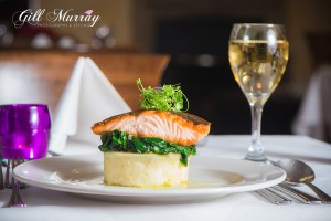Fisher's Hotel - Salmon and wine