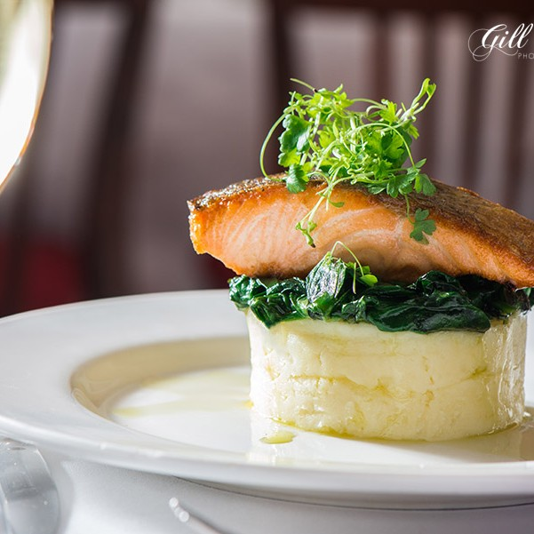 The Fishers Hotel in Pitlochry serves up delicious food and local Perthshire photographer Gill Murray went to try it out.  She loved this lovely salmon dish from the menu.