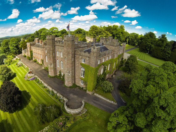 Scone Palace was the crowning place of the kings of scotland and is historical interest.  Definitely a thing to do , see when visiting scotland and Perthshire