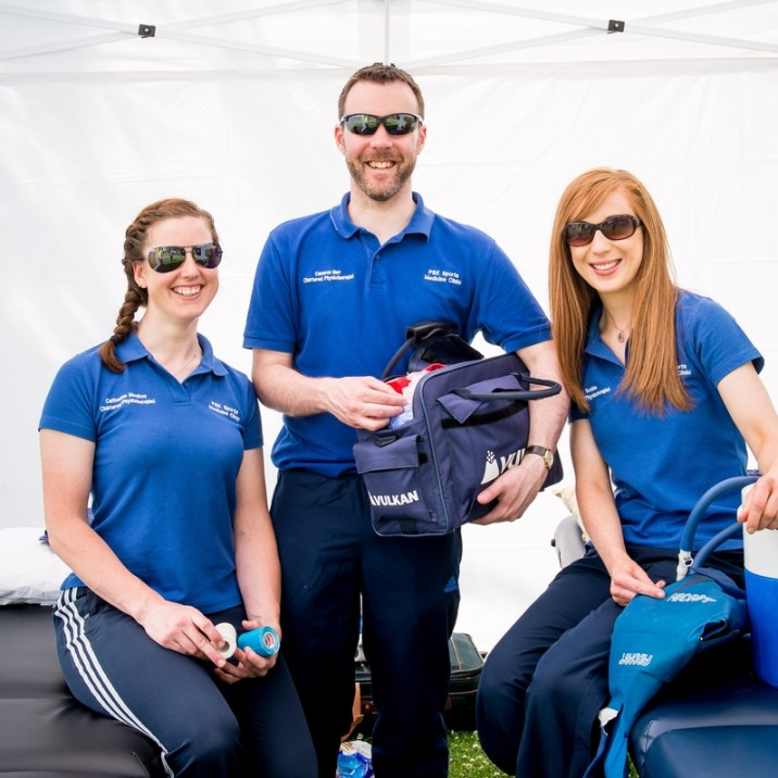 The physio team at the Scottish Volleyball Championships 2016 were on hand for the day.  They were enjoying the sunshine in between appointments!