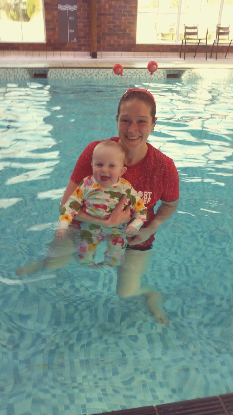 Turtle Tots - In pool with Freya