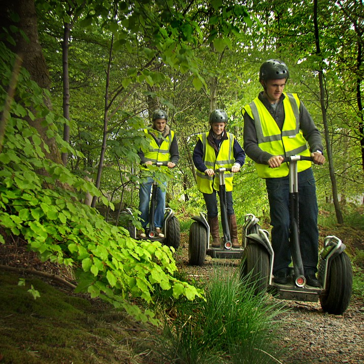 Enjoy the segways at Action Glen at Crieff Hydro. Manoeuvre your way through the forest terrain and enjoy the beautiful views on the way.  Crieff Hydro have Scotland's biggest fleet of segways!