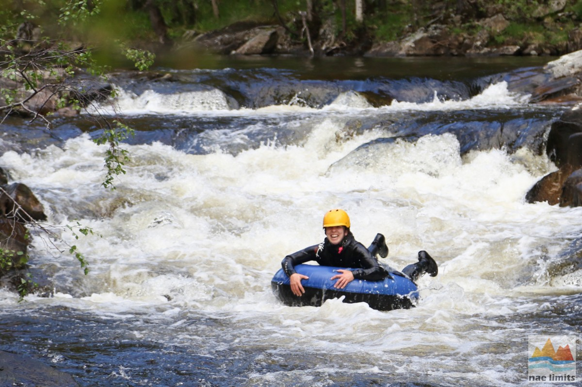 MADDIE NAE LIMITS - in rapids on donught