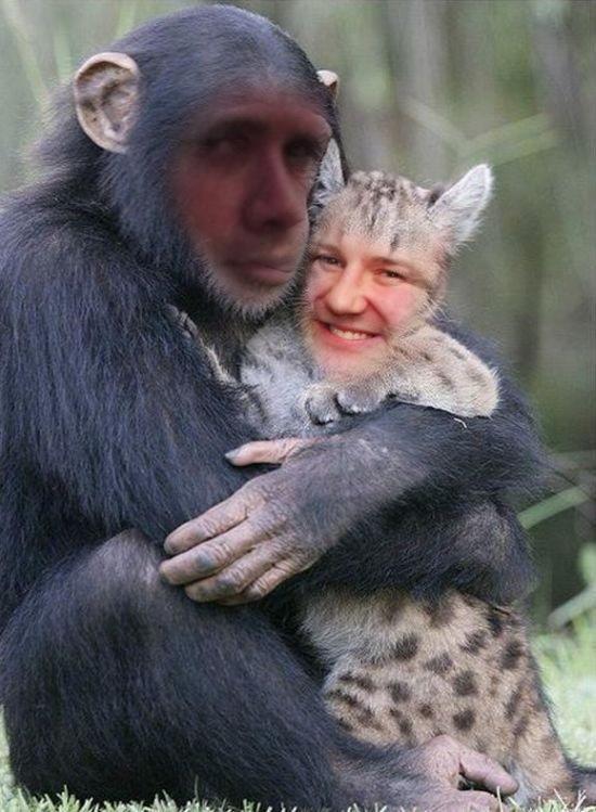 JAMES IRVINE - Monkey and cat