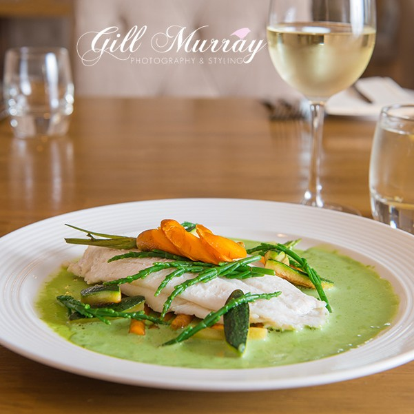 Pura Maison in Crieff, Perthshire has a great menu in lovely surroundings. Gill shares with us their recipe for Baked Lemon Sole with Wild Garlic Veloute and Baby Vegetables.