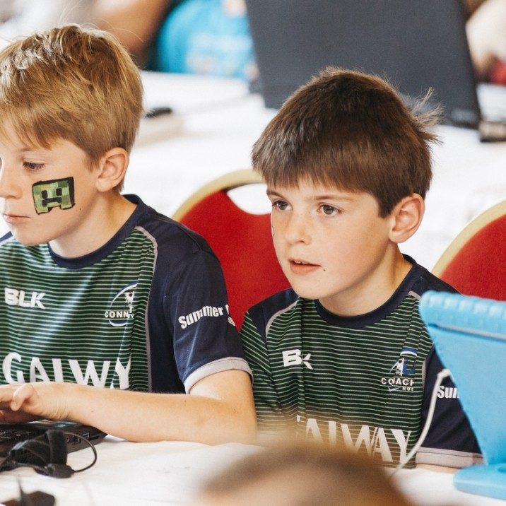 All the kids brought their own laptops to play the game and were loved seeing the hotel they were in made into minecraft!