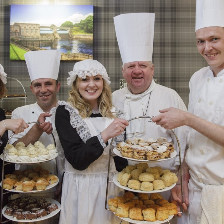 All the staff at the Atholl Palace in Pitlochry dressed up in victorian clothes and served up a great range of cakes. There was a prize for the best visitor's costume.