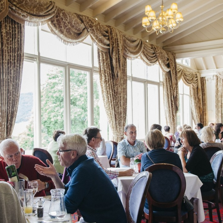 The cafe at the Atholl Palace was packed with Afternoon tea lovers!