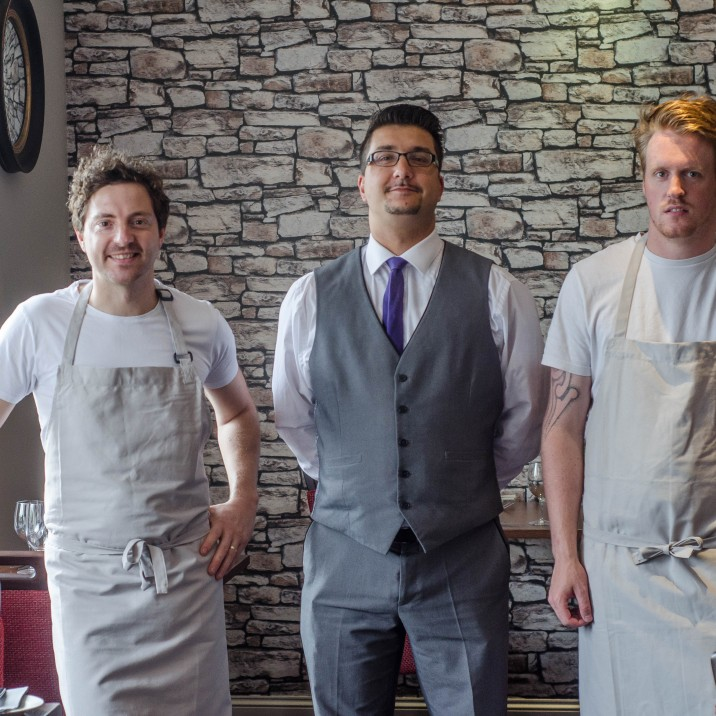 The three amigos reading and raring to go for tonights service. Greeme, Lee and Lukas are the people behind the delicious food and great service at 63 Tay Street!