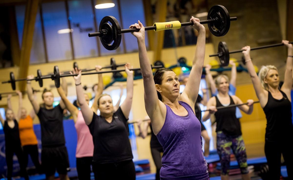 Fitness Bodypump overhead lift