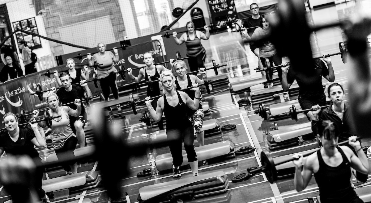 Fitness Bodypump black and white