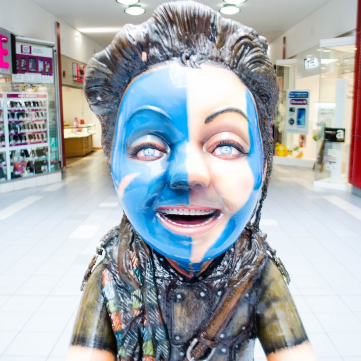This Braveheart inspired Oor Wullie goes perfectly outside the Scottish Shop in St John's Shopping Centre!