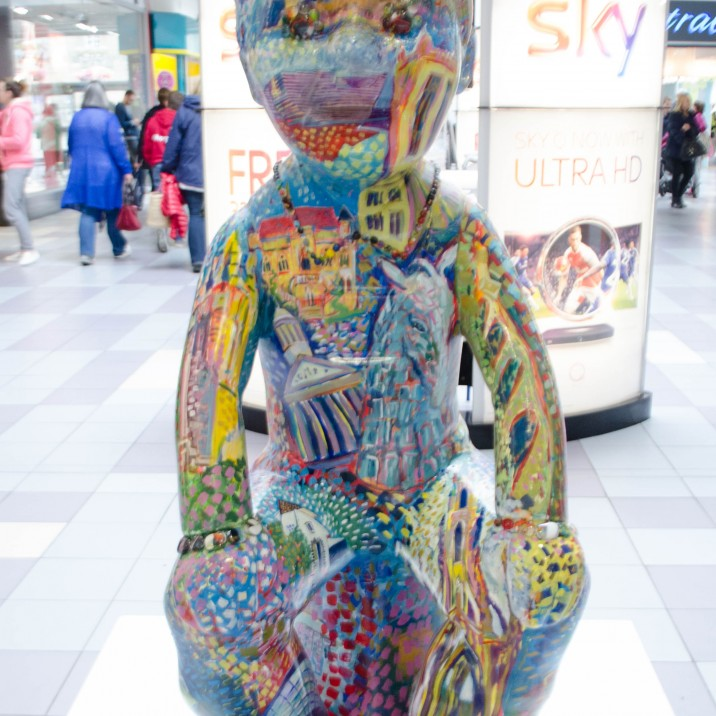 GG the multicoloured Oor Wullie in St Johns Shopping Centre Perth by Shelagh Swanson.