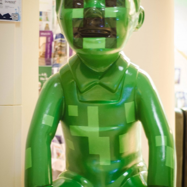 Perth Musuem and Art Gallery are delighted to have this �finders creepers� minecraft Oor Wullie during their Player exhibition all about the evolution of computer gaming!
