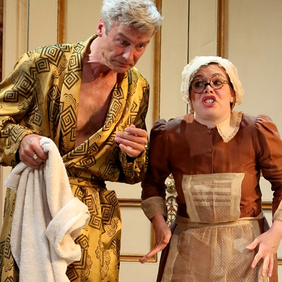 Thark is a rip roaring hilariously inventive farce and is showing at Pitlochry Festival Theatre. Don't miss it!