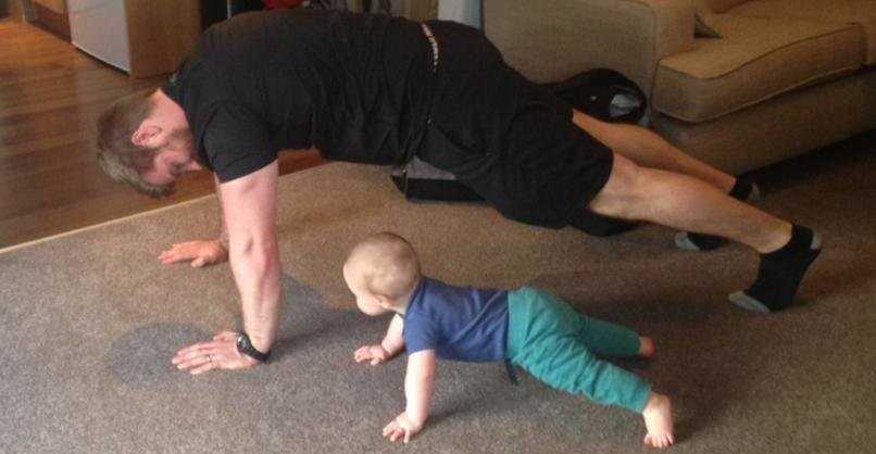 Stephen Clarke baby plank