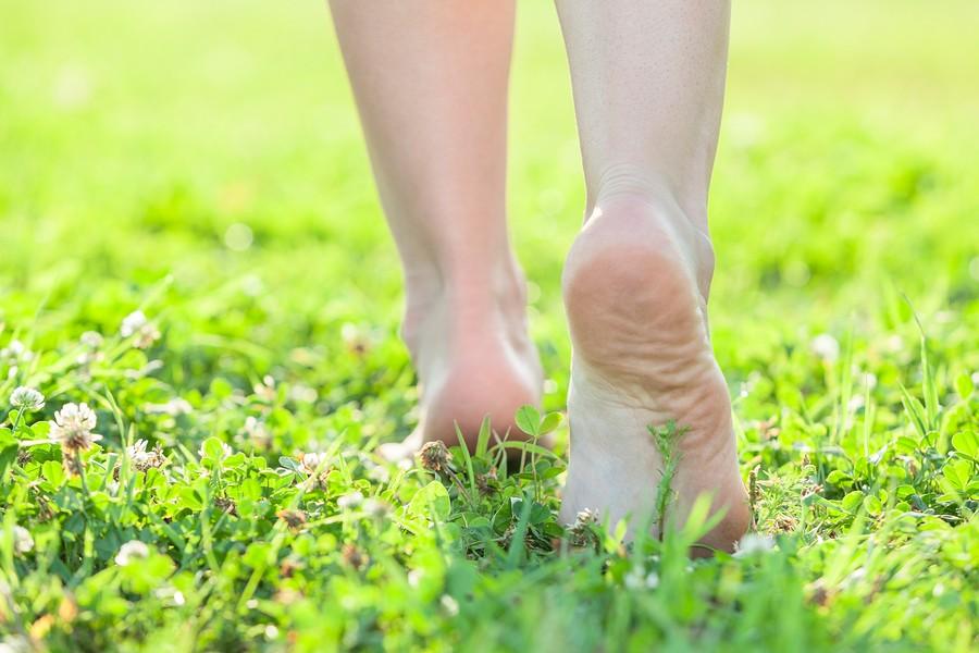 Stephen Clarke feet on grass