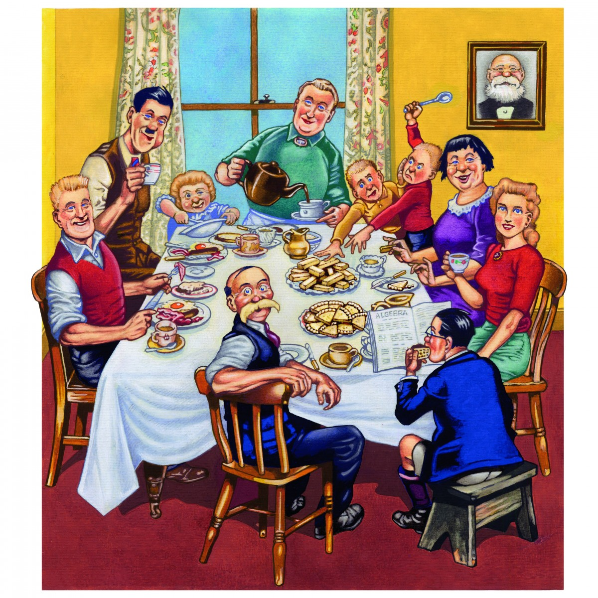 The Broons dinner table