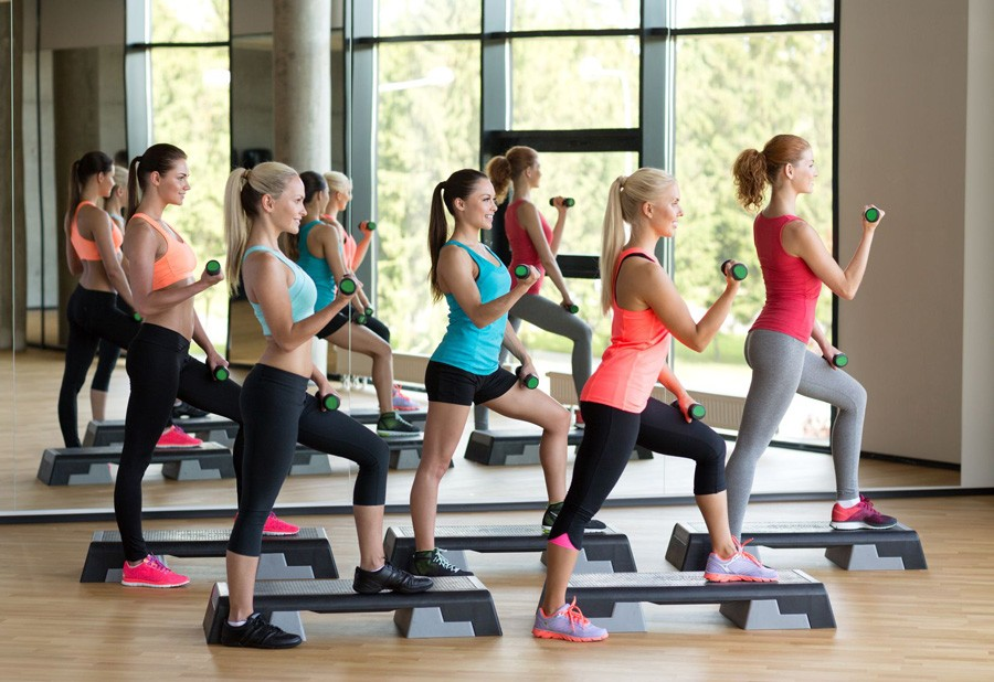 Fitness Step Les Mills girls