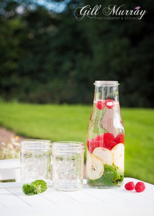 Summer Detox Water - Raspberry, Pear & Mint