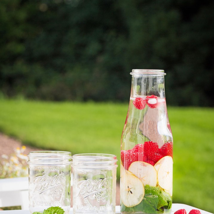 SUMMER DETOX WATER - water on table with glasses