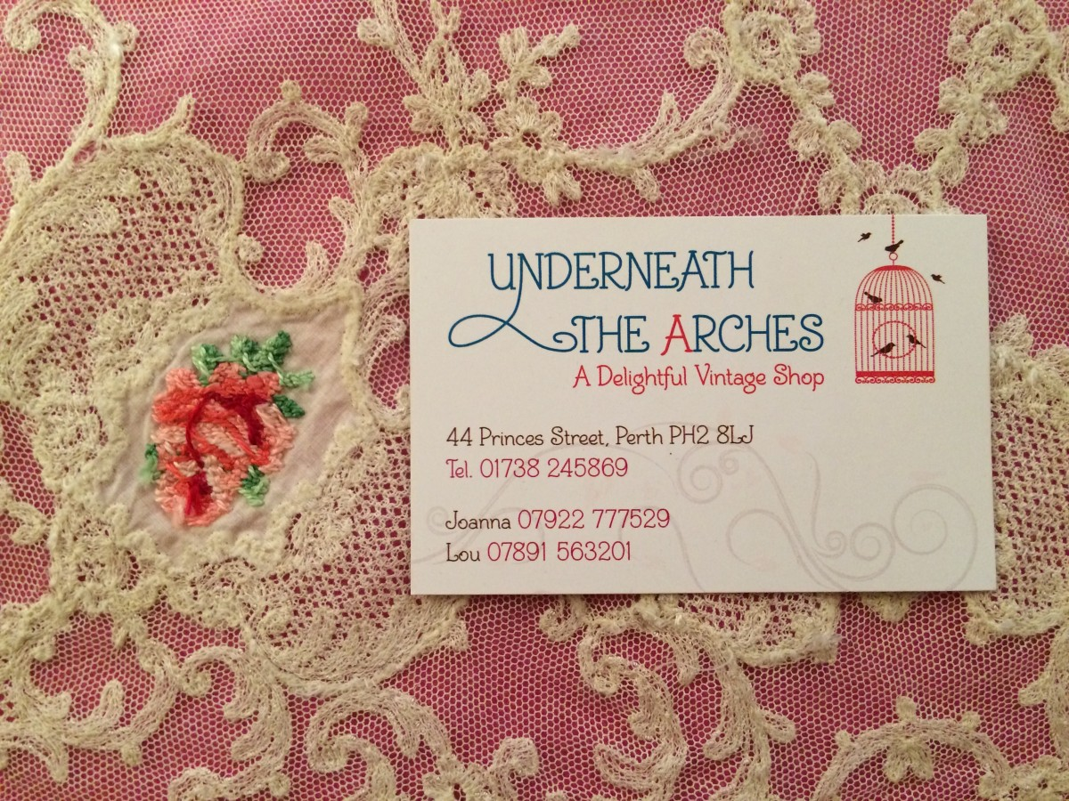 Underneath The Arches business card