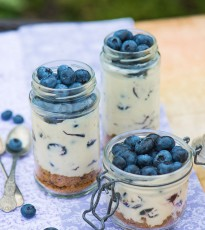 Blueberry Cheesecakes In A Jar
