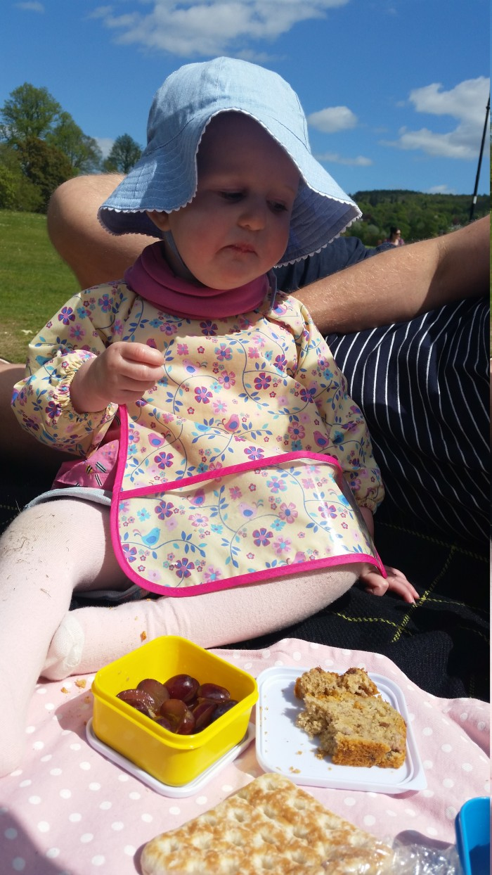 Picnic Spots baby Freya and her  daddy