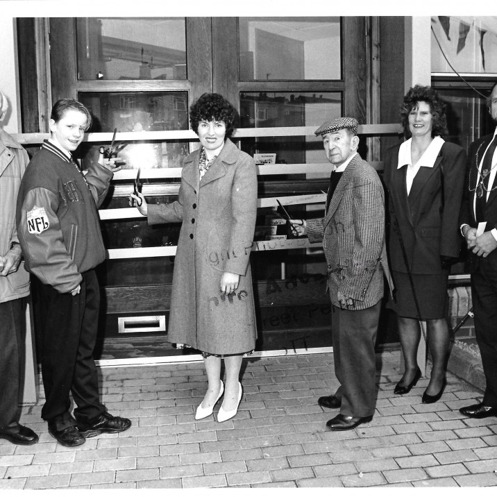 The Letham Centre opened in 1992 and this picture shows them cutting the opening ribbon!