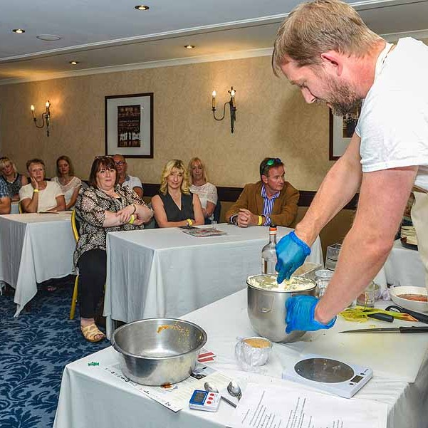 Graeme Maxwell from Maxwells Desserts in Perthshire made a delicious Gin infused cheesecake at our Small City Recipe Demo at Provender Brown's Gin Festival at the Salutation Hotel, Perth