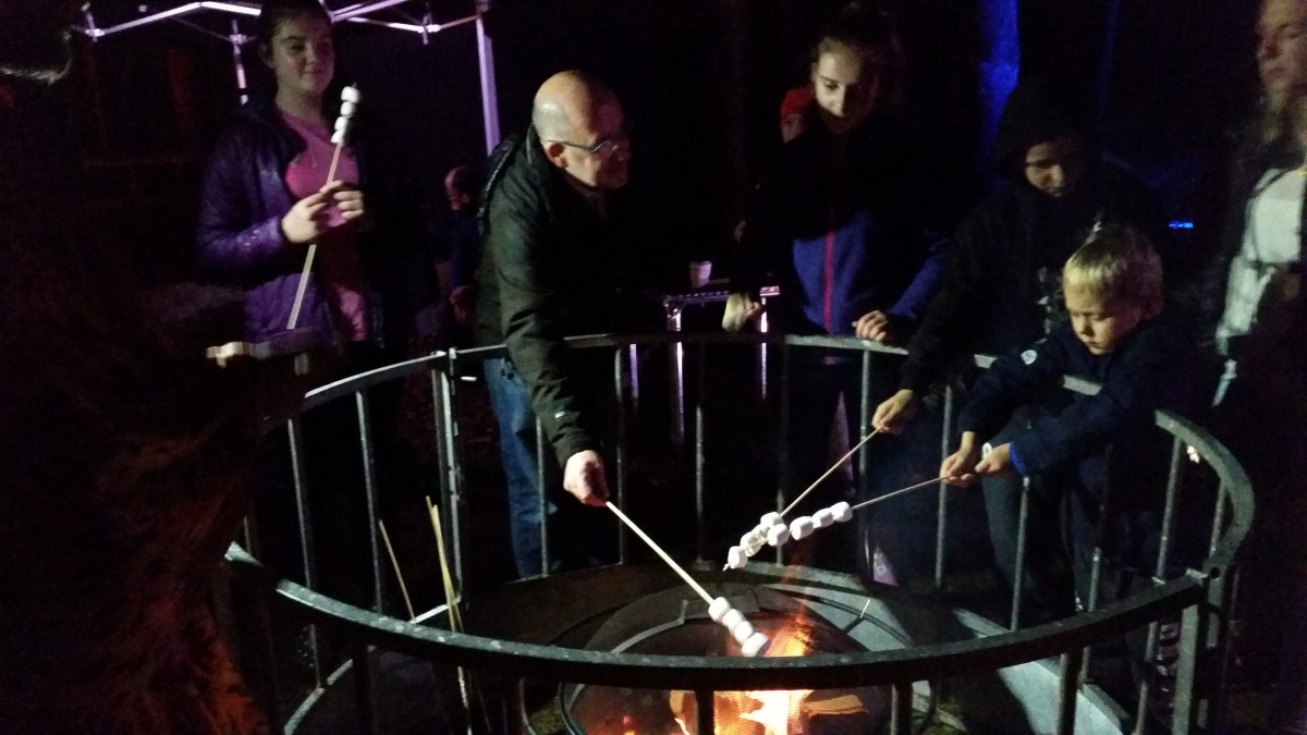 Enchanted Forest 2016 marshmallow toasting