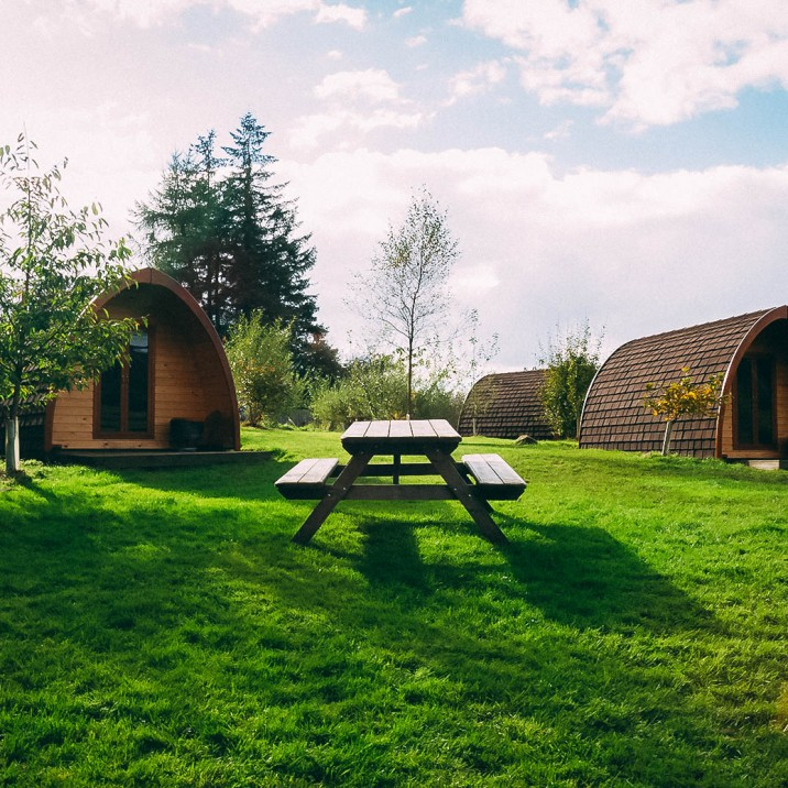 Kristy Ashton went glamping with Jamie Howden to Eco Camp Glenshee in Perthshire