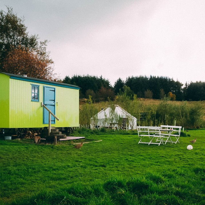 Kristy Ashton went glamping with Jamie Howden to Eco Camp Glenshee in Perthshire.