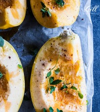 Roasted Spaghetti Squash with Thyme & Chilli