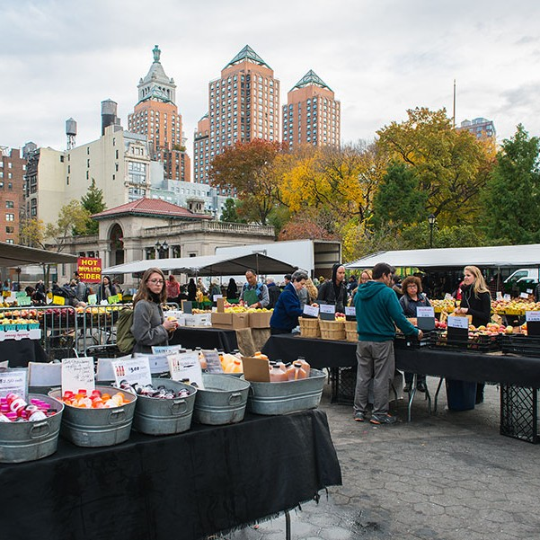 Union Square Greenmarket in New York where Gill Murray Photography and styling got her Quince for the Quince jam recipe this week.