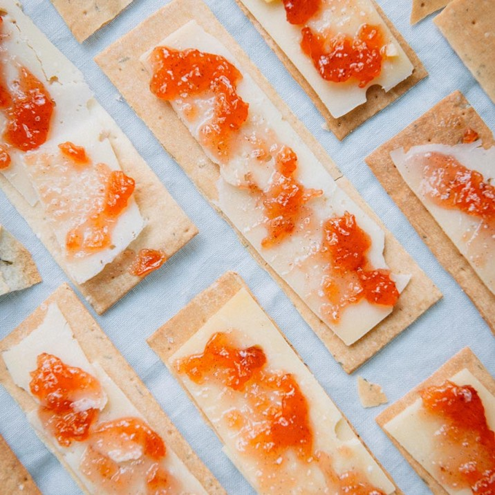 Quince jam goes perfectly slathered on a cracker with cheese.