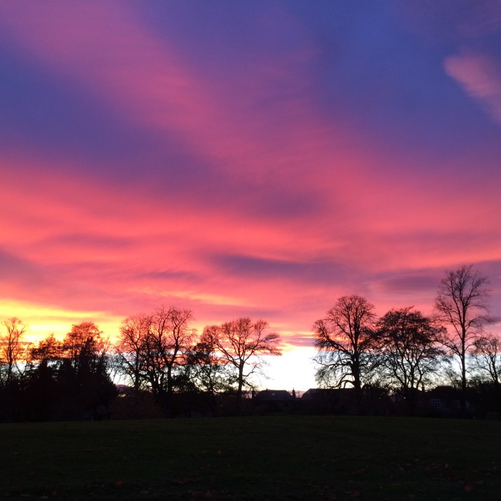 This beautiful picture from Anne Mitchell shows the vast array of colours in the sky from blue to orange.